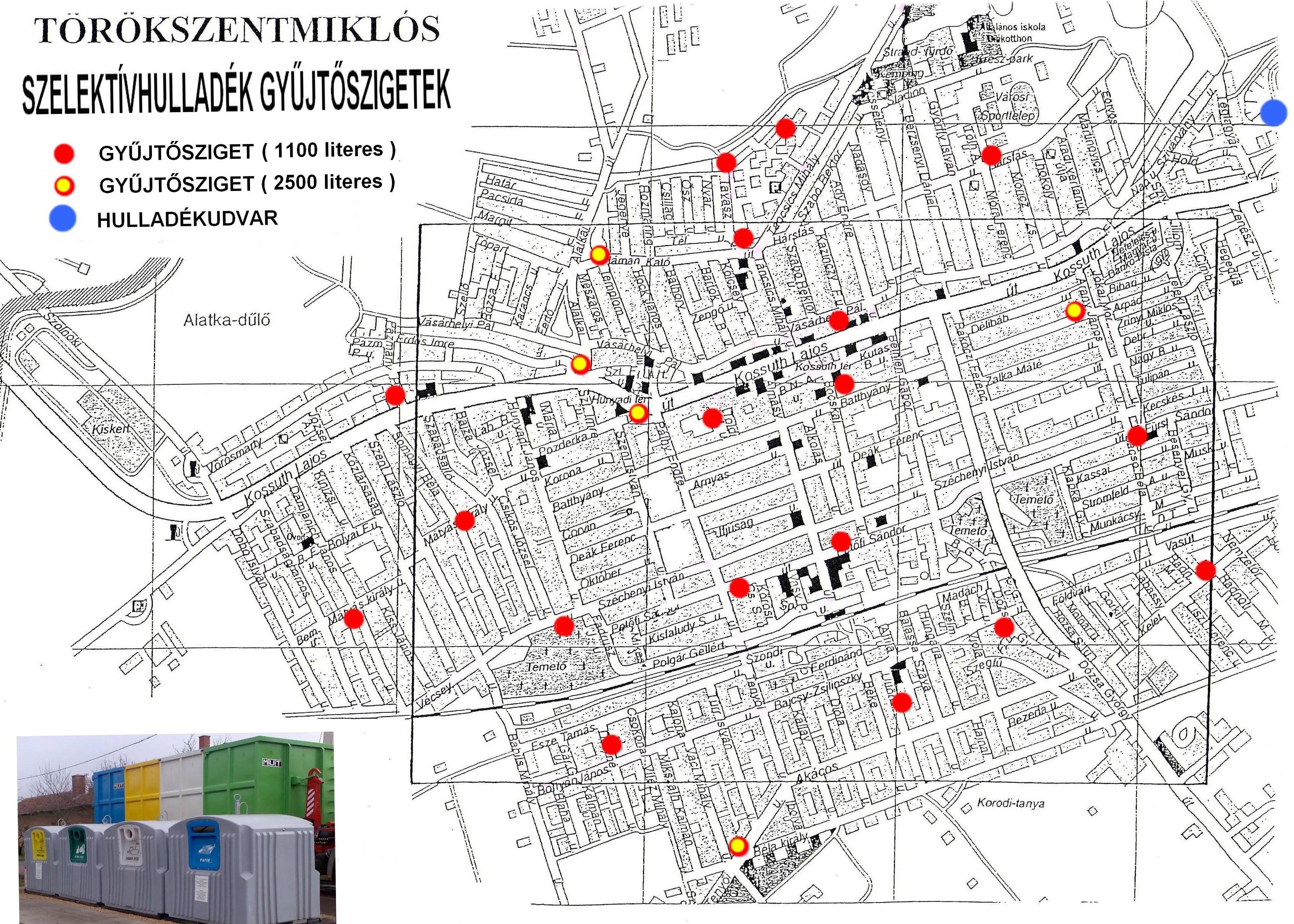 törökszentmiklós térkép Gyüjtőszigetek törökszentmiklós térkép